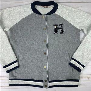 Tommy Hilfiger Varsity Bomber Sweatshirt Snaps